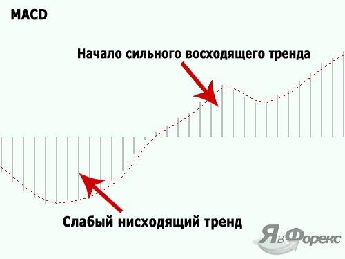 macd для определения разворота тренда