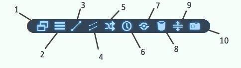 gанель инструментов toolbar